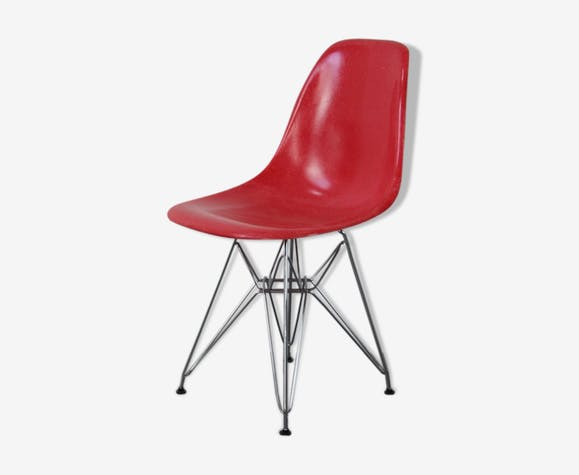 Chaise Dsr rouge Eames Herman Miller vintage