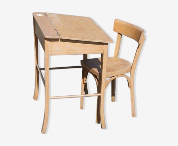 Bureau et chaise baumann modèle enfant brut à peindre bois