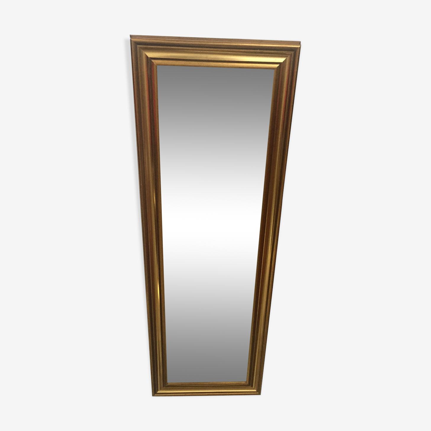 Miroir en bois doré 105x35cm