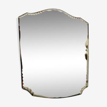 Bevelled art deco mirror 31x40cm