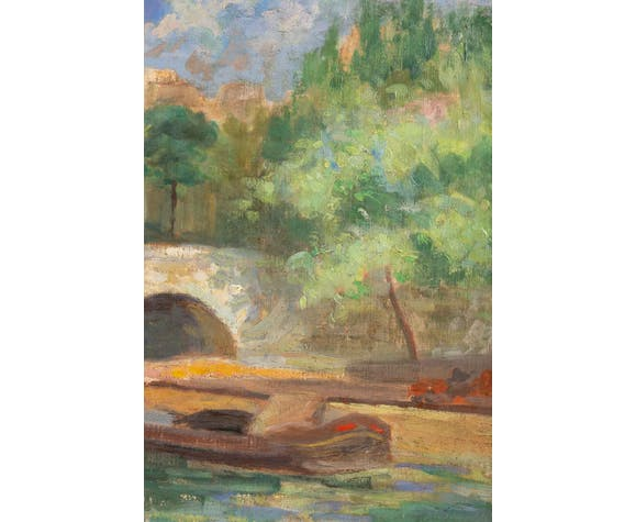 Paris, the Pont Marie-signed J. Nebesov-dated 1932