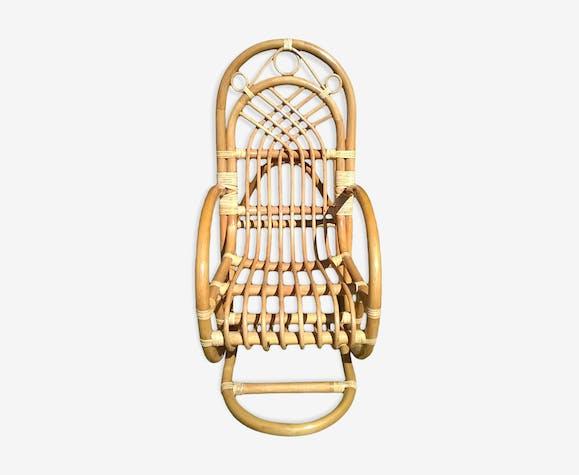 Bamboo child rocking chair