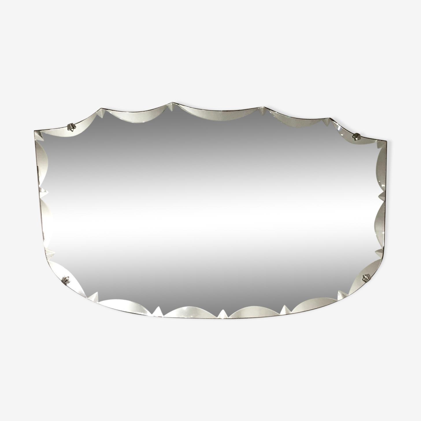 Flared beveled mirror 68 x 40 cm