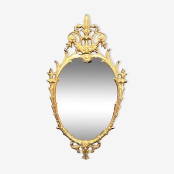 Miroir en bronze doré 32x61cm