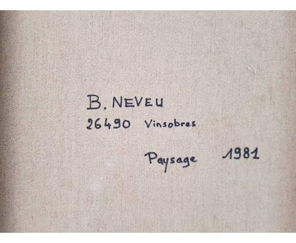 Paysage de Provence au cabanon, huile sur toile, signée au dos