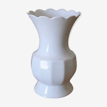 Vase blanc Bareuther Waldsassen années 50