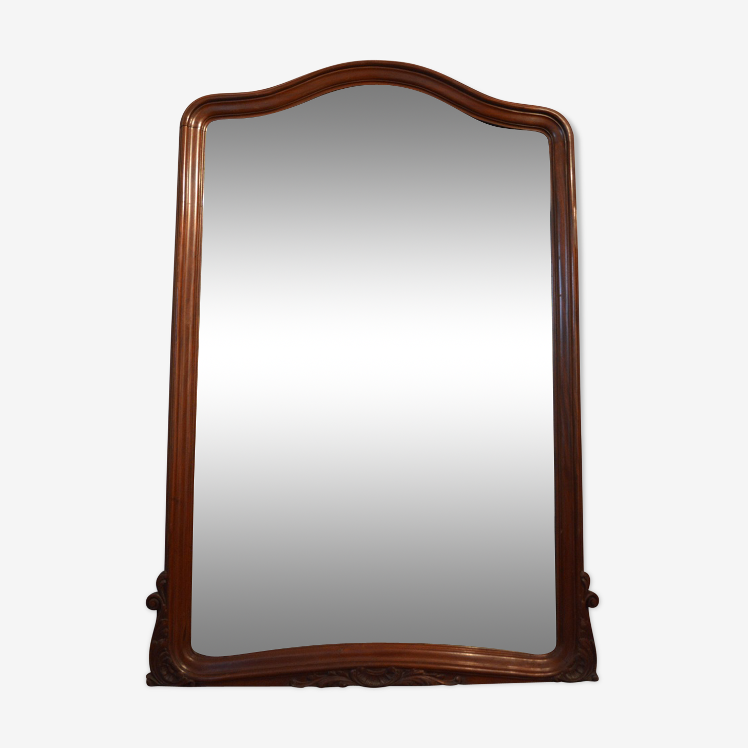 Miroir en acajou Louis XV 1900 - 162x105 cm