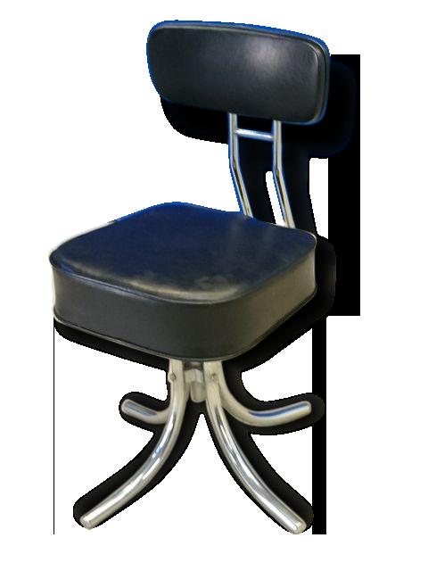Chaise fauteuil de bureau vintage Pullman mtal vintage 74234