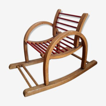 Rocking chair pour enfant vintage par Baumann