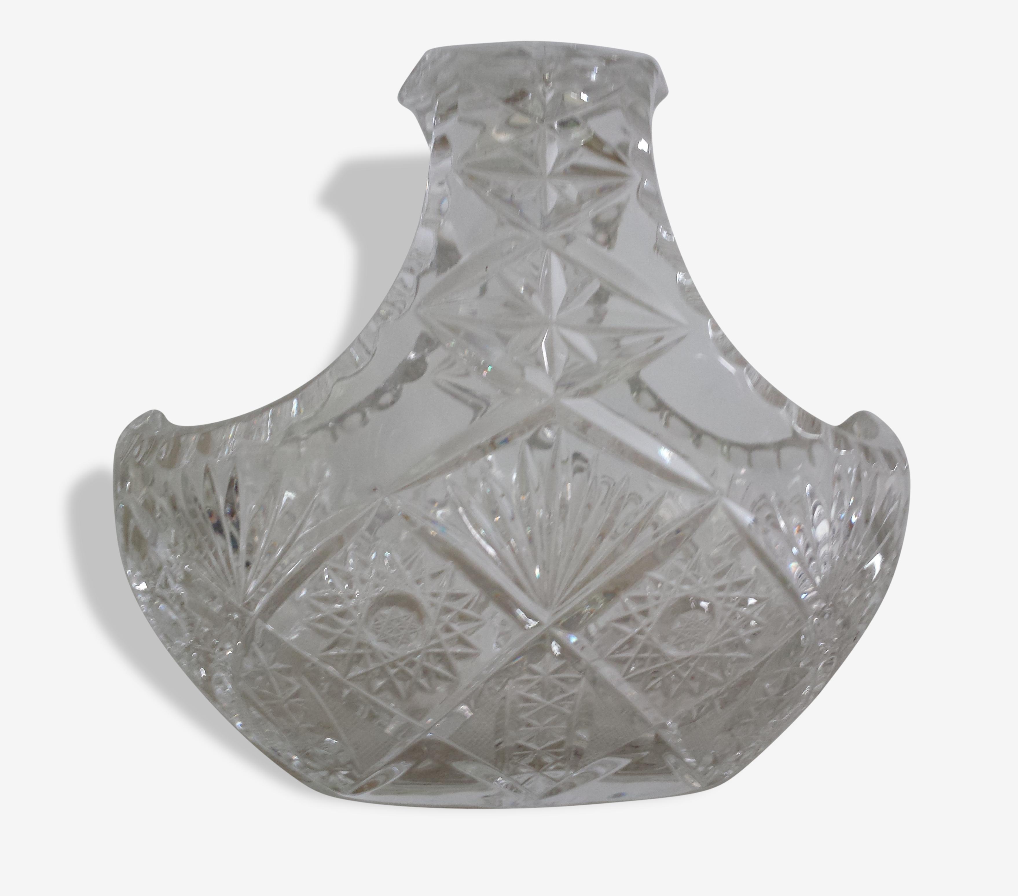 Bonbonnière ovale en cristal