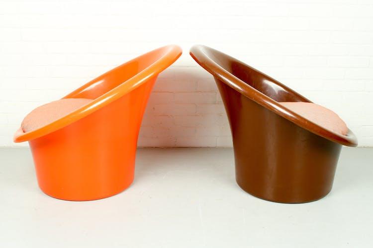 Paire de 2 fauteuils Skopa par Ole Gjerlàv Knudsen, Torben Lind pour Ikea, années 1970