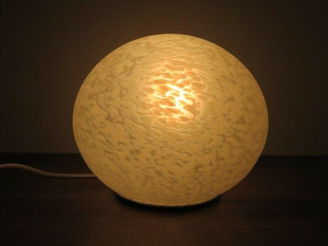 """Pebble"" 70s Vianne glass lamp"