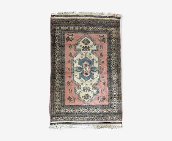 Tapis Oriental Ancien 121x196cm Lainecoton Gris éthnique