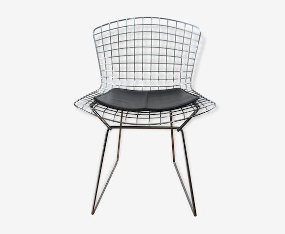 chaise bertoia pour knoll ann es 50 60 m tal argent couleur design 43484. Black Bedroom Furniture Sets. Home Design Ideas