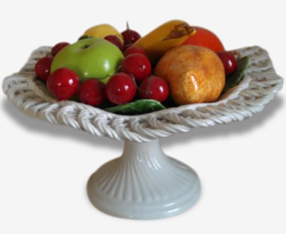 corbeille de fruits porcelaine france c ramique porcelaine fa ence multicolore vintage. Black Bedroom Furniture Sets. Home Design Ideas