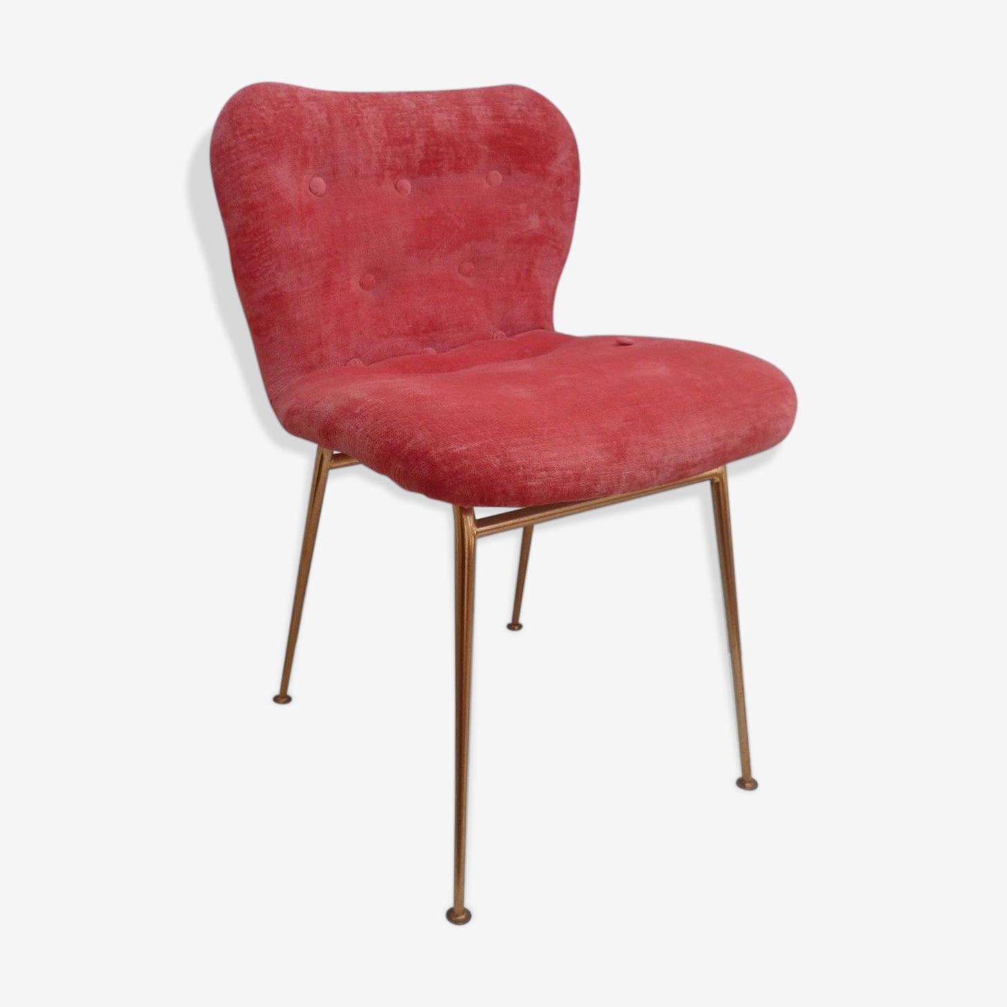 Chaise tissu rose
