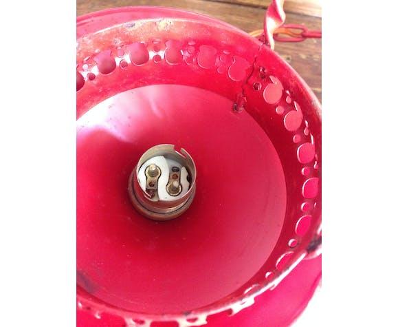 Lanterne métal et verre dépoli 50s