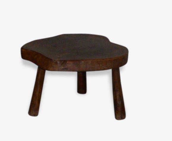 table basse rondin tripode artisanale et vintage bois mat riau marron scandinave. Black Bedroom Furniture Sets. Home Design Ideas