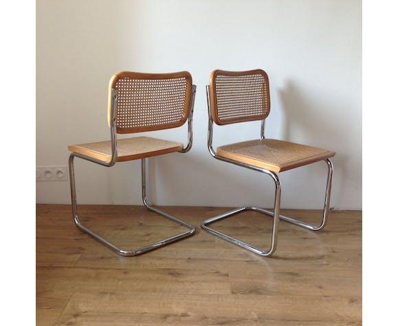 Paire de chaises Cesca par Marcel Breuer