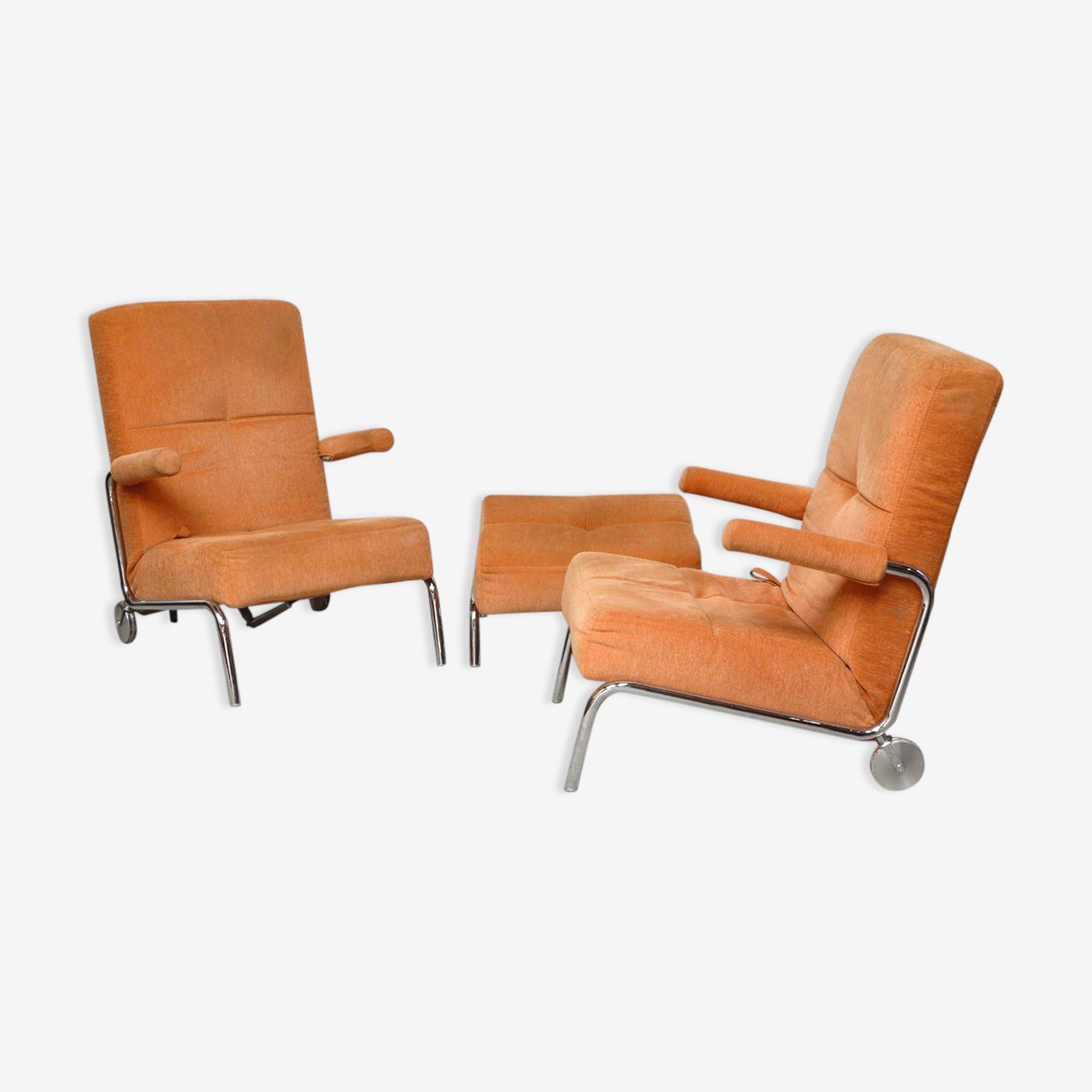 Fauteuils relax design Brühl 1980
