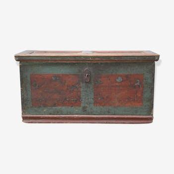 coffre malle caisse de rangement multicolor vintage d. Black Bedroom Furniture Sets. Home Design Ideas