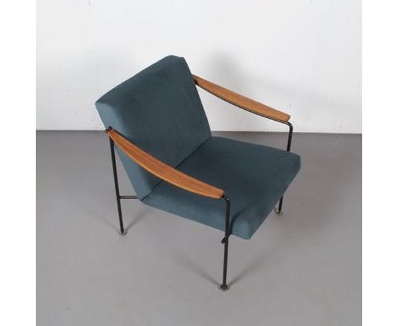 Chair vintage teak and green forest, Netherlands, 1960 s
