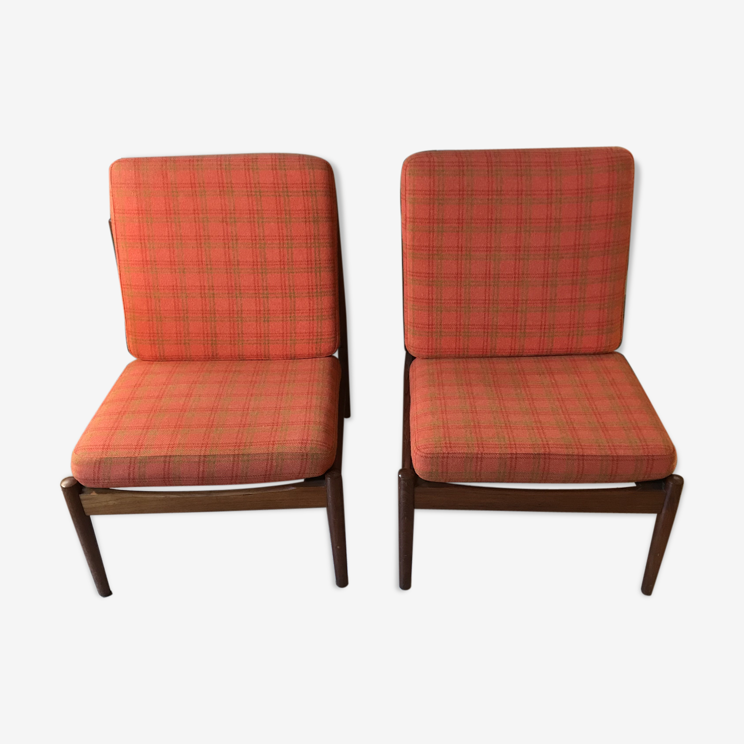 Danish fireside chairs by Arne Vodder for Glostrup 1960