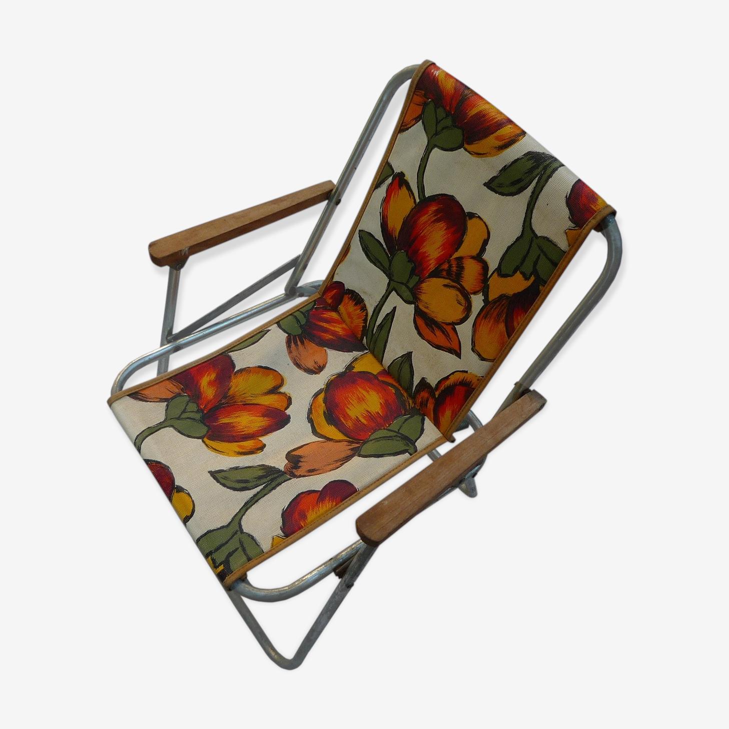Chaise De Camping Pliante Pour Enfant Vintage 70 Tissu