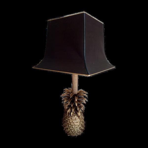 Lampe ananas en bronze