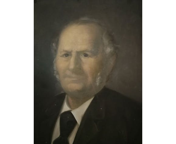 Portrait à l'huile signé et daté XIXème