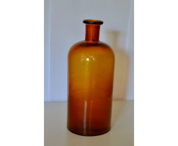 Flacon d'apothicaire en verre ambré