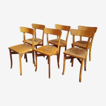 Serie De 6 Chaises Bistrot