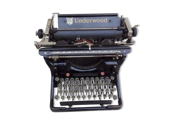 Machine crire underwood ann es 30 m tal noir - Machine a ecrire underwood ...