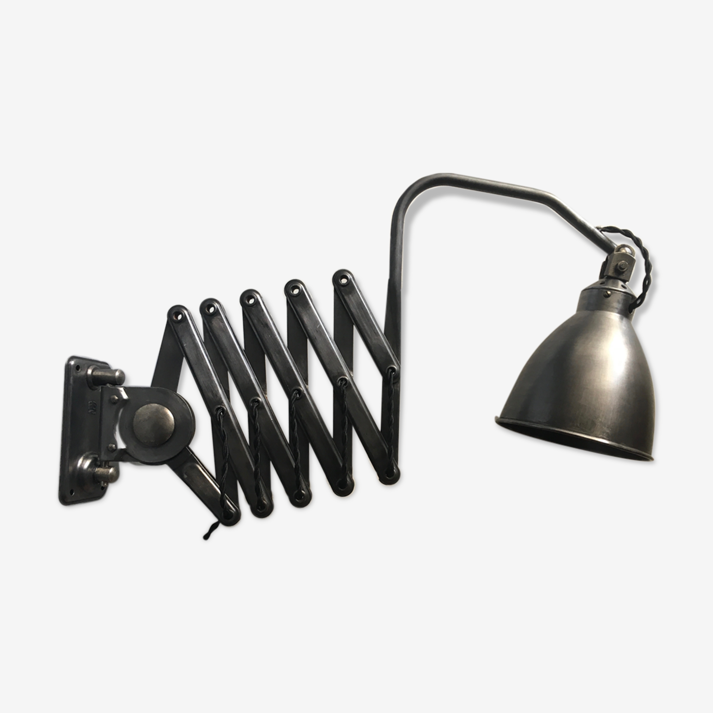 Ancienne lampe accordeon atelier industriel «agi»