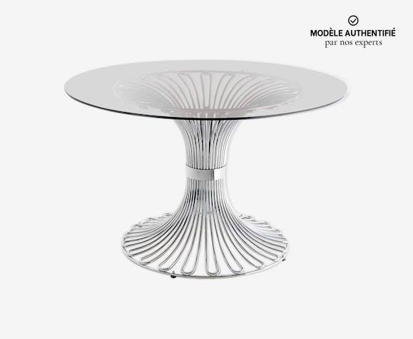 Table à manger circulaire de Gastone Rinaldi pour Rima, 1965
