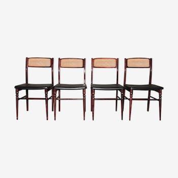 Series of 4 Spanish chairs Mocholi 60s/70s