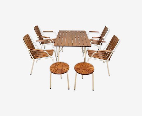 Salle à manger de jardin Daneline - bois (Matériau) - marron ...