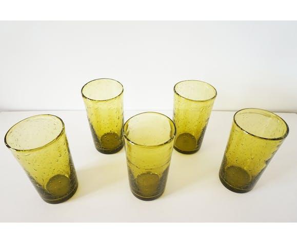Lot de verres en verre bullé, 1960