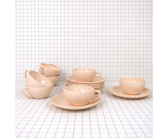 Service en porcelaine rose digoin sarreguemines