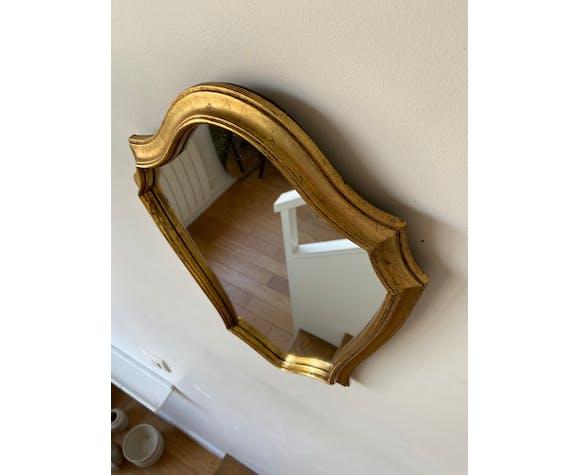 Miroir classique doré 41 x 30 cm