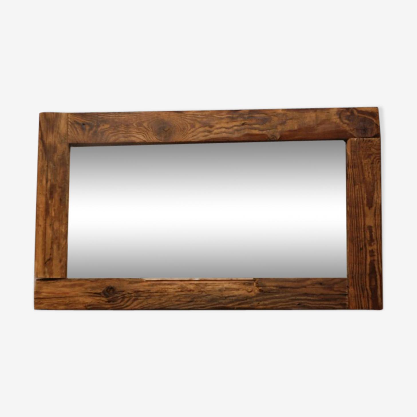 Miroir brut et massif 79 x 46 cm