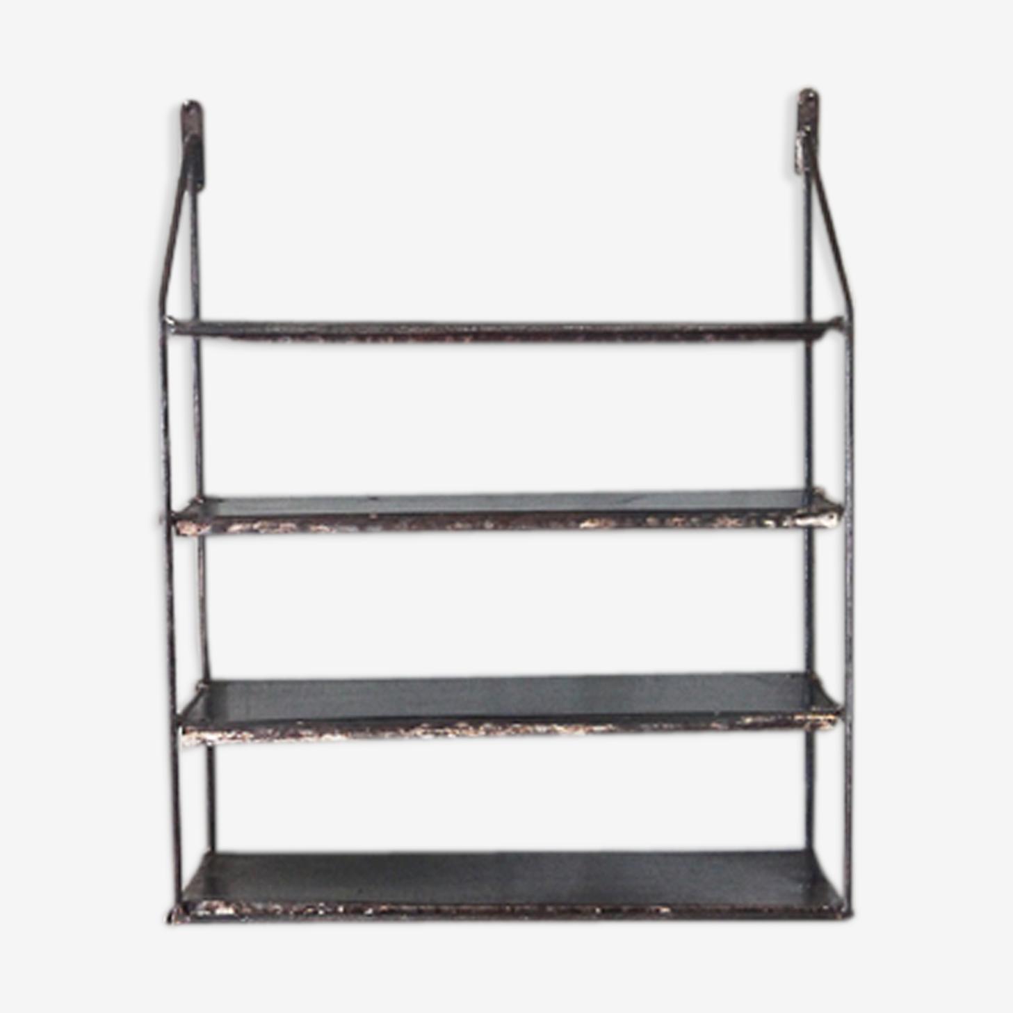 Wall shelf raw metal