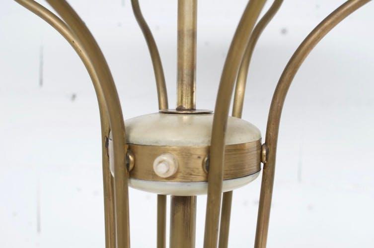 Lampadaire italien orientable années 50' laiton et acier