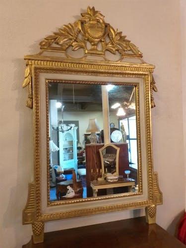 Miroir style empire bois laqué - 99x63cm