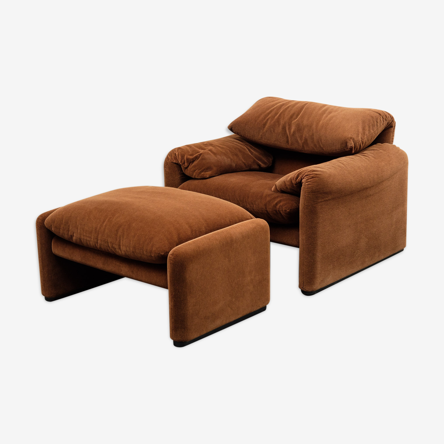 Armchair with footstool by Maralunga for Cassina