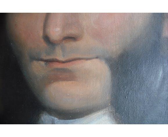 Portrait à l'huile 64,5x53,5cm