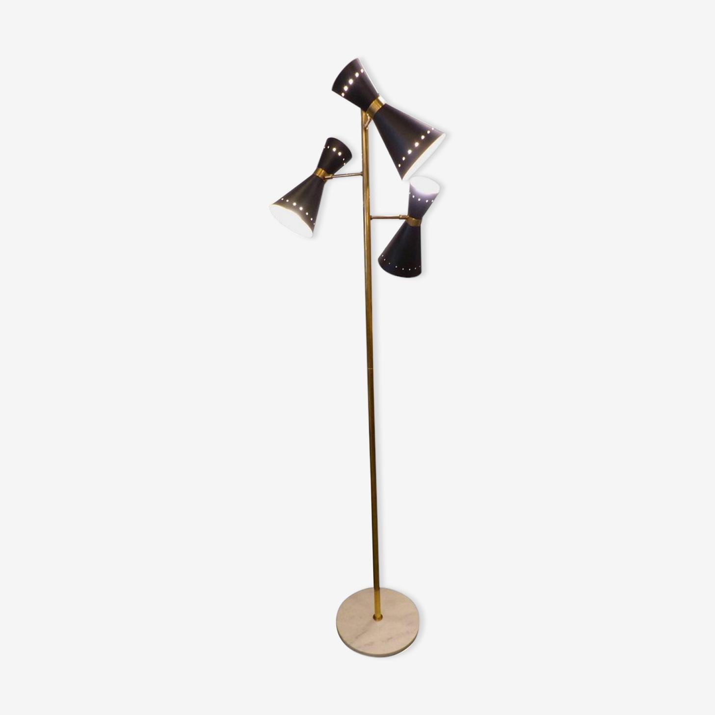Lampadaire dans le style des créations italiennes des années 50