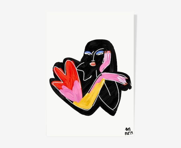 Black Woman - 29 x 42 cm