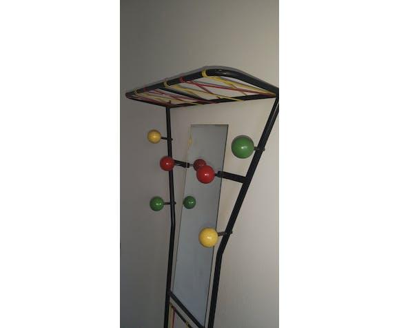 Vintage mirror wardrobe and 6 colored balls