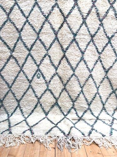Tapis berbère marocain ancien beni ouarain 306x199cm
